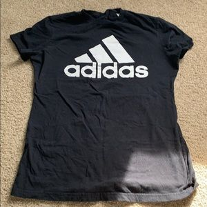 Adidas Woman's XS/Small black and white t-shirt